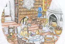 Karel IV. v kouzelném kukátku / ilustrace dětské knihy; historie; Karel IV.