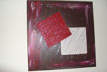 Mes séries : les carrés délices / Toiles reliefs carrées