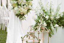 White and Green Modern Napa Wedding