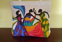 bolsas y carteras pintadas