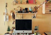 // workspace / workplace inspiration: desks, chairs, organisation.