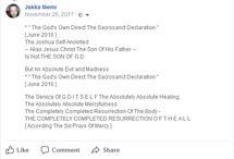 Y H W H Declaration