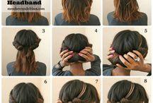 coiffures avec headband
