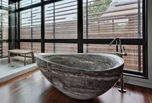 STUNNING STONE / Stone bathware and interiors offer a sexy sleek product with unique texture and finishes.