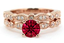 More Precious than Rubies / Gold Vintage style, round ruby stone, with diamonds on the side