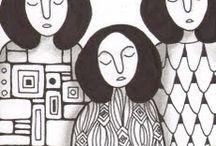 Dibujos y pinturas  / by Rebeca Guridi