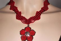 Necklace / Handmade necklace in macrame and crochet