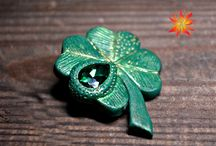 Clovers of polymer clay / Handmade jewelry and interior items on the theme of clovers.