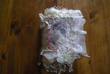 Shabby shabby vintage fabric book by Elena Cavalli