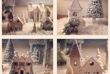 Kersthuisjes maken / Kerst huisjes maken