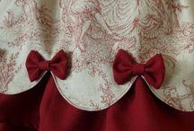 Costume Inspiration: Classic Lolita / Fabrics: cream cotton and red velvet