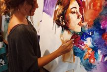 DIMITRA MILAN / Young artist Dimitra Milan grew up surrounded by art. Four years ago, when she had just begun painting, her parents opened Arizona's Milan Art Institute and allowed her to attend any classes she wanted. From classical oil painting techniques to a contemporary mixed style, Dimitra's skills grew along with her desire to paint. She then started home-schooling and dedicated all of her free time to painting. Today, 16-year-old Dimitra Milan is considered a famous professional artist.