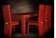 set comedor de coral rojo / set comedor de coral rojo reciclado