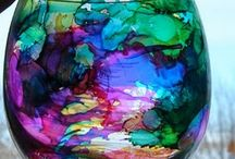 Alcohol ink stains