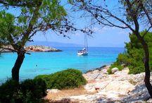 Beaches of Agistri Island, Greece