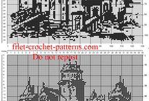 Crochet filet patterns designs home paintings / Crochet filet patterns designs home paintings