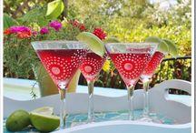 BRADY GURL PAINTED MARTINI GLASSES