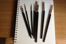 Design and Communication 1 / Pencils, Paints, Artbin, Sketchbooks, Paintbrushes, Oil Pastels, Charcoal, Chalk.
