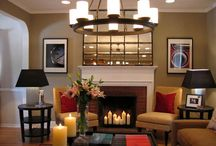 fireplaces / by Heather Bechtold Mayhew