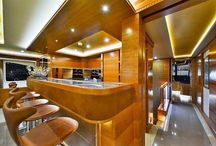 Boat Interior / Interior design of living spaces of yachts and boats