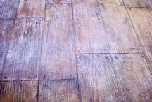 Wood look concrete / Floor board look