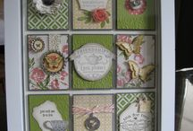 Shadow boxes/framed collage/samplers