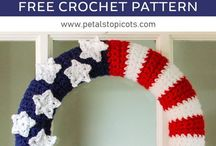 Crochet for Red, White and Blue Patriotic / Free Crochet Patterns for Red, White and Blue Patriotic