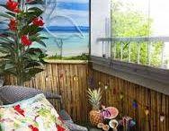 tiki paradise balcony / vision for my balcony / by Kelly Matthews