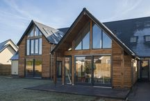 Hampden Farm / Two new build designer homes with Rationel Aldus windows and doors with Ling Joinery screens