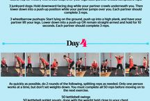 Couple's workout plan