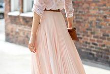 jupe longue rose pastel