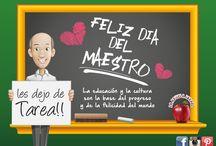 Día del maestro!!! / La educación y la cultura son la Base del progreso y de la felicidad del mundo.  Feliz día del maestro!!!