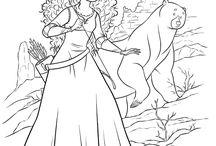 coloring pages 23 (Merida+Mulan)