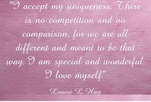 The Love Quotes Celebrity Quotes : I accept my uniqueness. There is no competition and no comparison, for we are al…