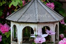 Birdhouses and Butterfly Feeders