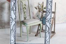 Annie Sloan stenciled furniture