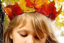 Activités automne / Jouer, créer, avec des feuilles, des marrons, de la mousse, des glands...