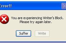 Writer's Block (The illness of the intelligent)