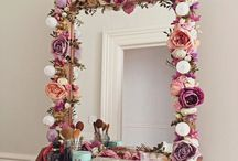 Espejos decorados de flores