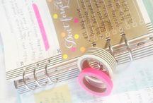 Washi tape ideas + Filofax