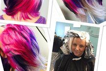 My HOTT Hair Fashion Color Board / Lindi Edge - Pro stylist @ Scissors & Spice Hair Salon Sporting Fashion Colors!  Ultimate Hair Porn