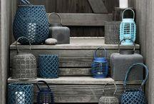 Terrasse tendance bleu