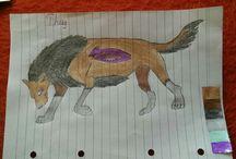 Draw anime wolf / Anime wolf