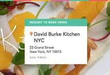 """David Burke Kitchen on ExpressBook / Book this experience: Chef's Table Family Style """"Back Yard"""" Dinner in the Chef's Table - Visit: https://venuebook.com/venue/1136/david-burke-kitchen-soho/ / by VenueBook"""