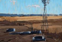 Stephanie Hartshorn / Engaging Manmade Objects as an Art Form  ||  Oil Painting  ||  Landscapes, Rural, Urban, Southwestern, Western, Midwestern, Barns, Trains, Signs, Antiques, Vintage, Architecture
