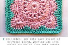 Cuadrados de Crochet