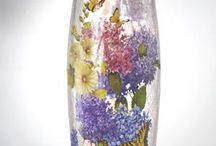 Lighted Glass Hand Painted Vases By Stony Creek