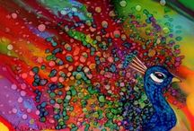 Karen Walker i inni - alkohol ink painting