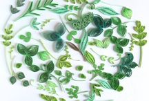 Quilled leaves 1