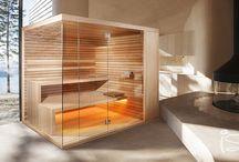 Minima sauna with hidden finnish sauna stove